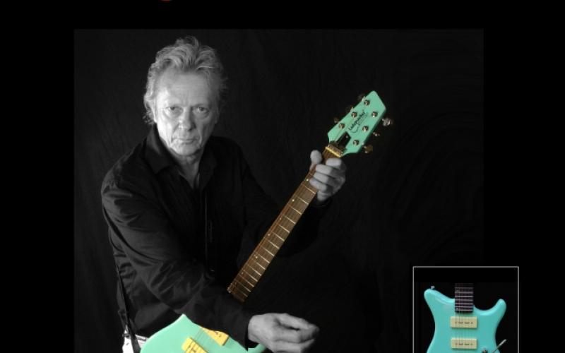 Dany Lademacher maakt reclame voor zijn gitaar op zijn website.