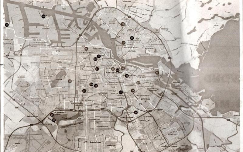 De plattegrond van Amsterdam: basis voor het logo